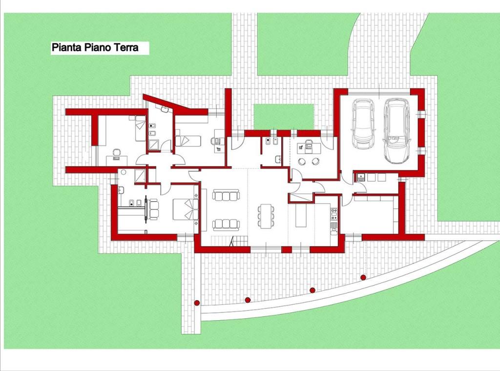 La rampa noceto pr p p costruzioni for Casa moderna pianta