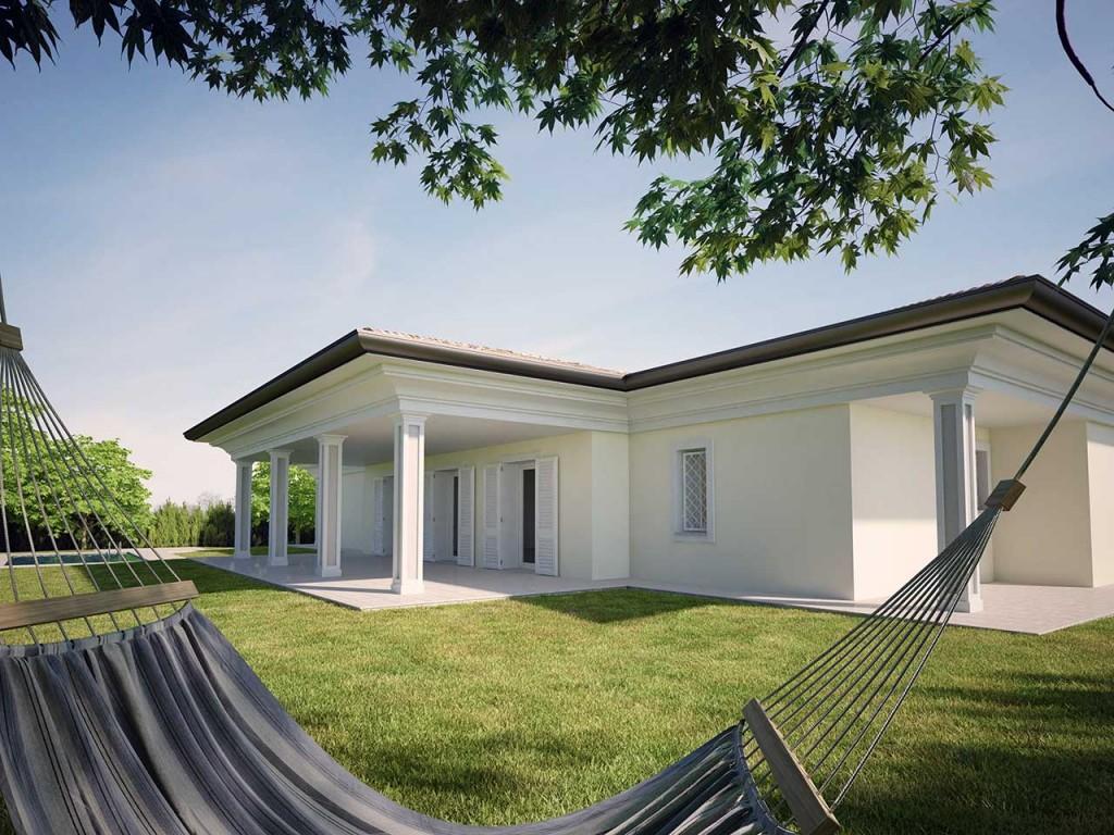 Excellent progetto villa classica su unico livello with for Villetta moderna progetto
