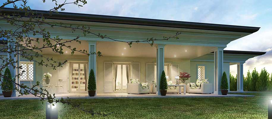 La rampa noceto pr p p costruzioni for Casa classica villa medici