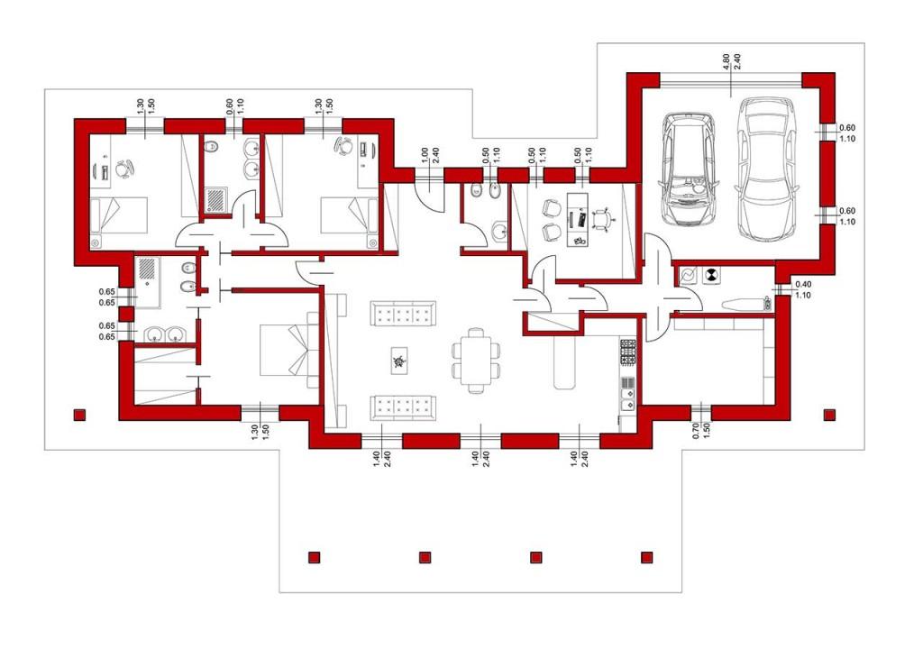 La rampa noceto pr p p costruzioni for Case di livello tri